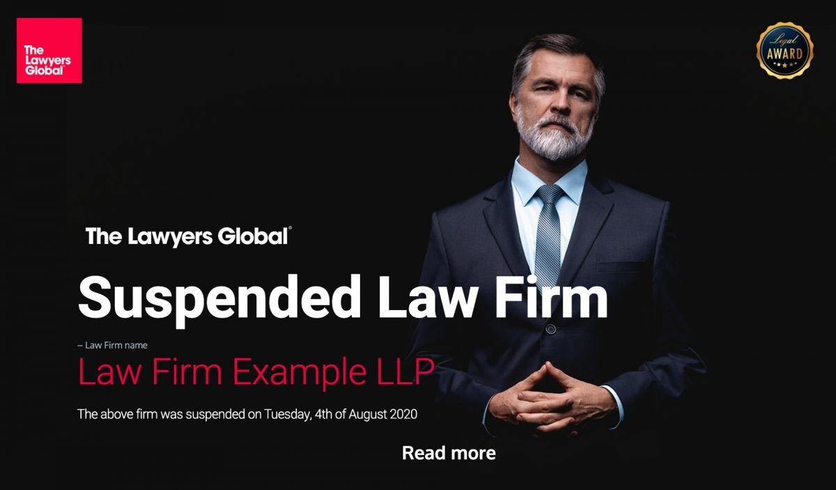 Law Firms Suspension from our Elite Firms