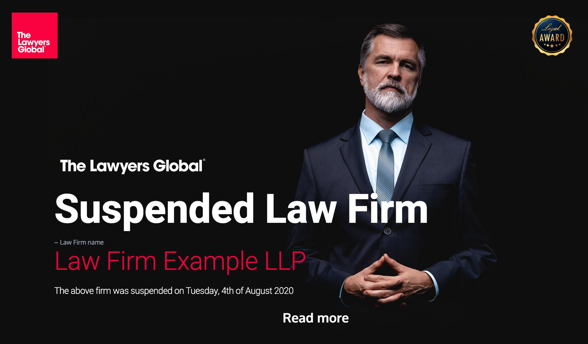 2020 Annual Legal Awards. View All the Winner Law Firms here