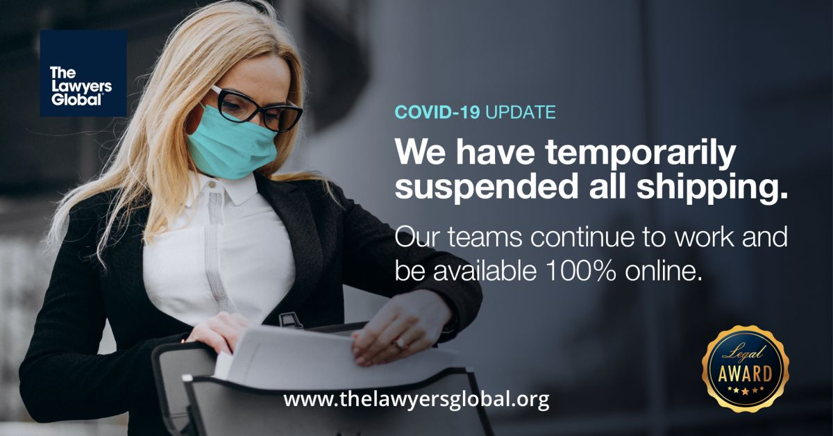 COVID-19 Update - Shipping suspended
